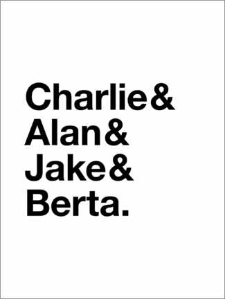 Premium poster Two and a Half Men - names