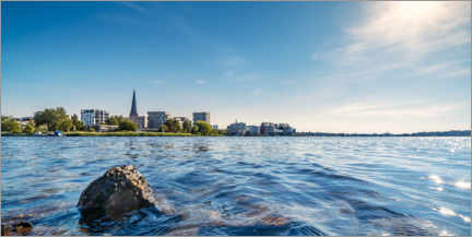 Aluminium print  Rostock city harbor and wooden peninsula - Dirk Petersen