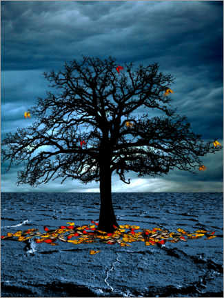 Acrylic print  Tree of life with autumn leaves