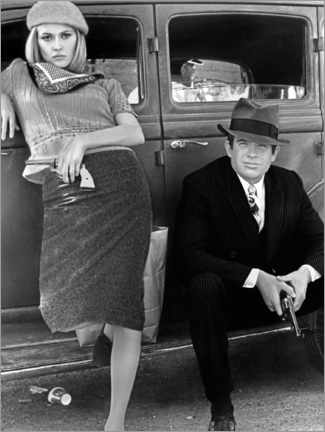Premium poster Bonnie and Clyde, Black and White
