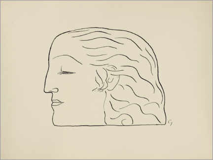Foam board print  Woman head - Leo Gestel