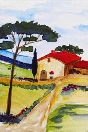 Gallery print  Country house in Tuscany - Christine Huwer