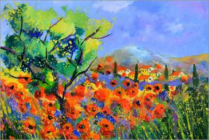 Wall sticker  Red poppies in provence - Pol Ledent