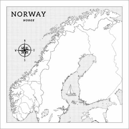 Colouring poster Norway