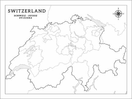 Colouring poster Switzerland