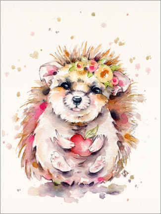 Premium poster  Sweet Hedgehog - Sillier Than Sally