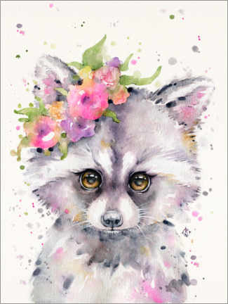 Premium poster  Little Raccoon - Sillier Than Sally