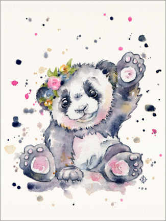 Canvas print  Sweet Panda - Sillier Than Sally