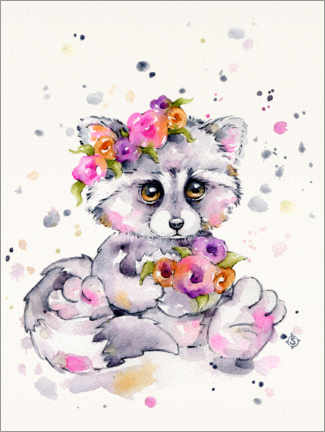 Premium poster  Sweet Raccoon - Sillier Than Sally