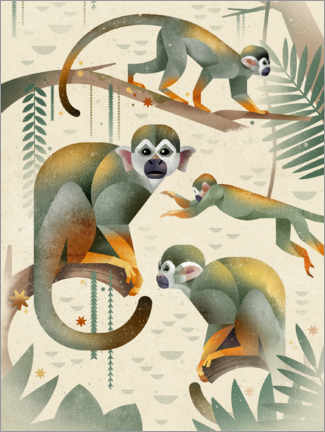 Canvas print  Squirrel monkey - Dieter Braun