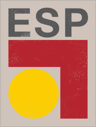 Premium poster  Spain retro flag - Swissty
