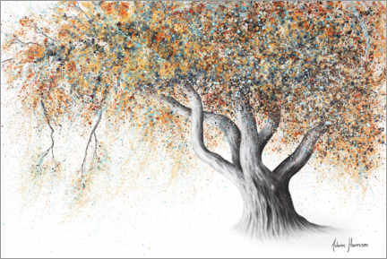 Premium poster Rusty Autumn Tree