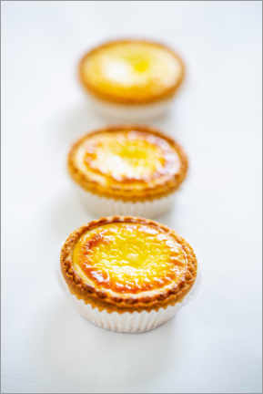 Wall sticker  Small tartes with cream cheese and egg cream - foodcollection