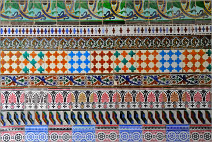 Canvas print  Old Spanish tiles - imageBROKER
