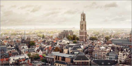 Premium poster  View of Utrecht, one of the oldest cities in the Netherlands - Sebastian Grote