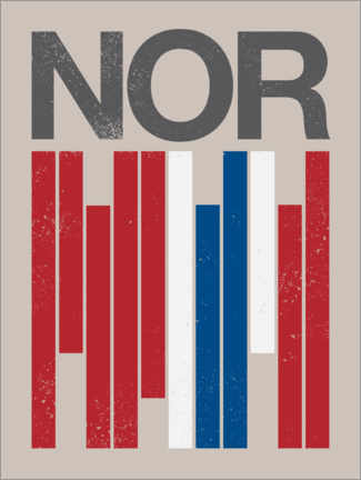 Premium poster  Norway retro flag - Swissty