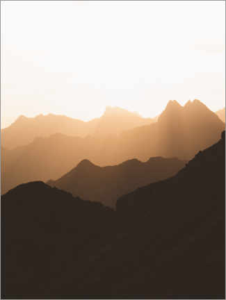 Wall sticker  Silhouette of the Alps at sunrise - Lukas Saalfrank