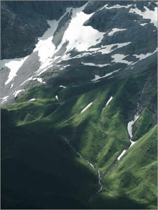 Acrylic print  Abstract mountain landscape in the Alps - Lukas Saalfrank