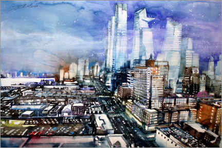 Premium poster New York Manhattan Hudson Yards