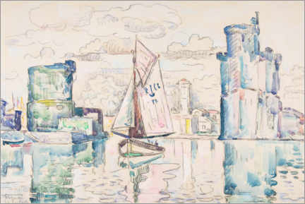 Aluminium print  Entrance to the port of La Rochelle - Paul Signac