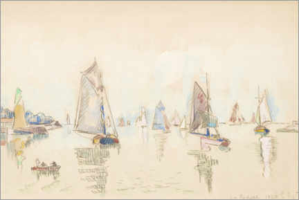 Foam board print  Study of sailing boats - Paul Signac