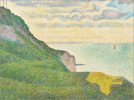 Foam board print  Seascape in Port en Bessin, Normandy - Paul Signac