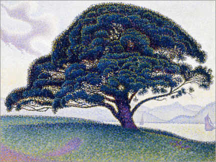 Foam board print  The Bonaventura pine - Paul Signac