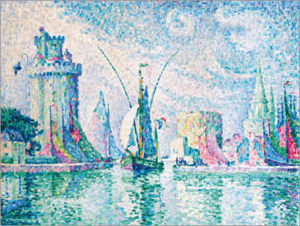 Acrylic print  The green tower, La Rochelle - Paul Signac