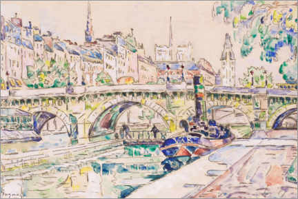 Canvas print  Le Pont Neuf in Paris - Paul Signac