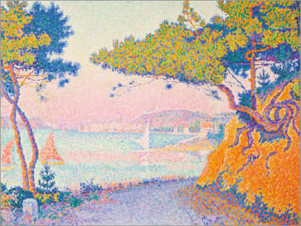 Wood print  Golf Juan - Paul Signac