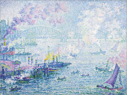 Premium poster  Port of Rotterdam - Paul Signac