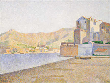 Canvas print  The city beach, Collioure - Paul Signac