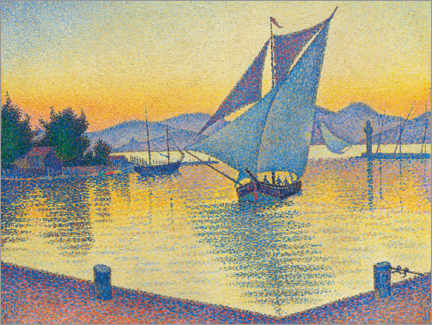 Gallery print  Harbor in the sunset - Paul Signac