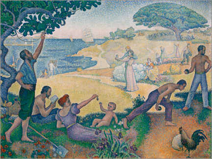 Wood print  Time of harmony - Paul Signac