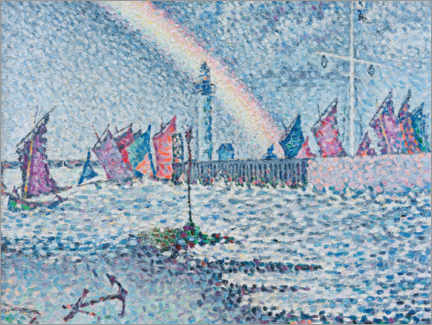 Foam board print  Port entrance from Honfleur - Paul Signac