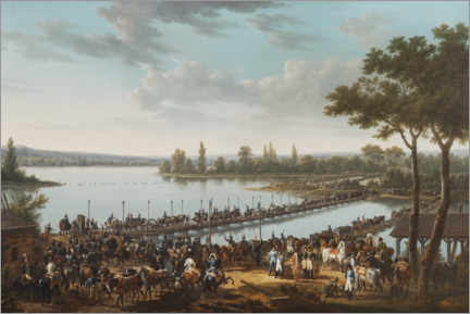 Premium poster  The Passage of the Danube by Napoleon before the Battle of Wagram - Jacques Francois Joseph Swebach