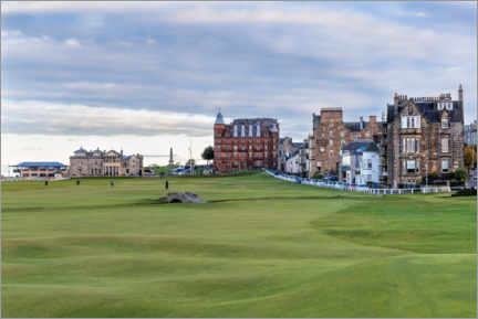 Canvas print  Hole 18 at St. Andrews Old Course, Scotland - Mike Centioli