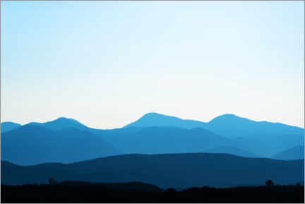 Acrylic print  Blue mountain early in the morning - George Pachantouris