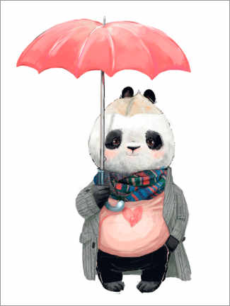 Premium poster  Rain panda - Kidz Collection