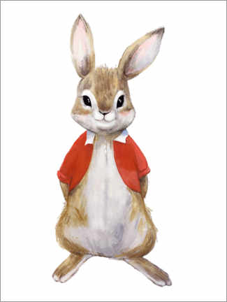 Premium poster Bunny in a Sunday shirt