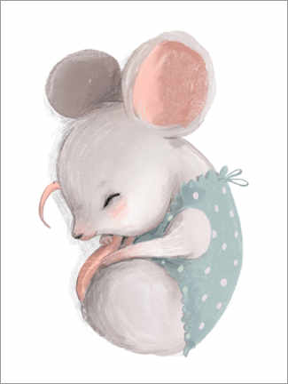 Canvas print  Little Mouse Taking a Nap - Kidz Collection