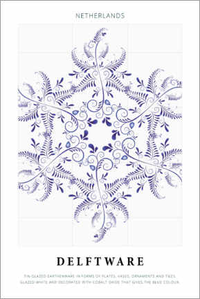 Acrylic print  Delftware - Art Couture