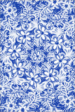 Gallery print  Delft blue design