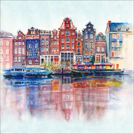 Canvas print  The canals of Amsterdam