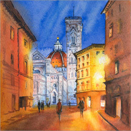 Canvas print  Piazza del Duomo in Florence, Italy
