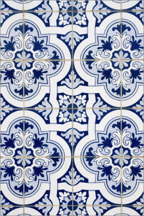 Aluminium print  Delft blue decor