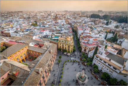 Premium poster View over the old town of Seville