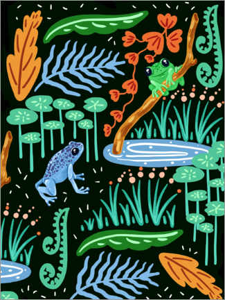 Canvas print  Frogs in the forest