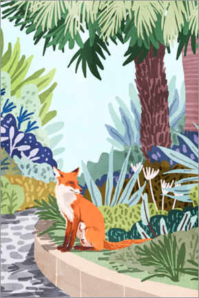 Premium poster The fox in the garden