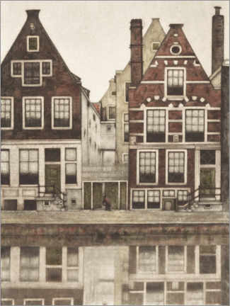Premium poster  Houses on the Groenburgwal in Amsterdam - Frans Everbag